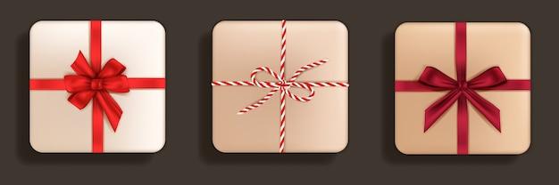 Cajas de regalo realistas