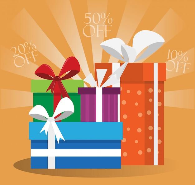 Cajas de regalo tarjeta