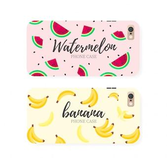 Cajas del teléfono de la fruta
