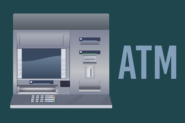 Cajero automático del banco atm
