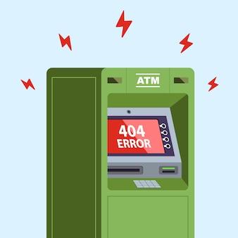 El cajero automático dejó de funcionar. error 404 en el monitor.