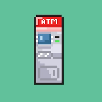 Cajero automático con estilo pixel art