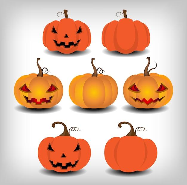 Calabaza para el día de halloween objeto