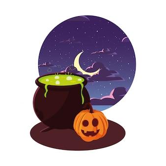 Calabaza feliz celebración de halloween