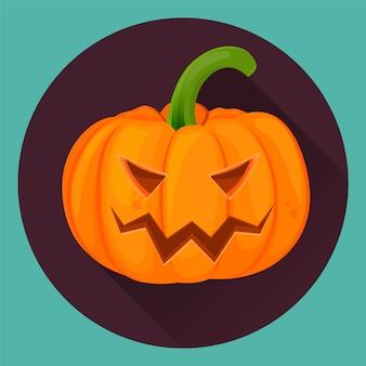 Calabaza de halloween con cara de miedo