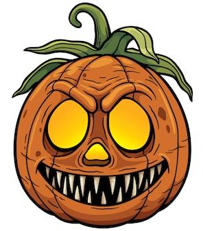 Calabaza de halloween de dibujos animados