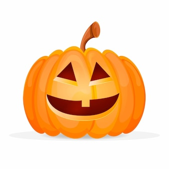 Calabaza de halloween de diseño realista