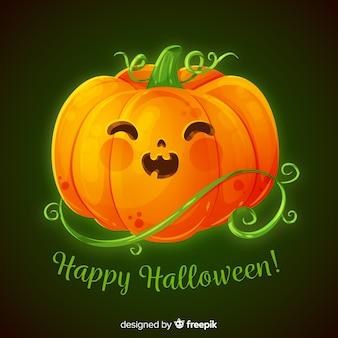 Calabaza de halloween linda realista
