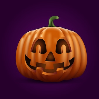 Calabaza de halloween realista