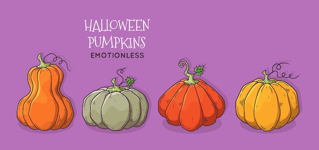 Calabaza de halloween realista.