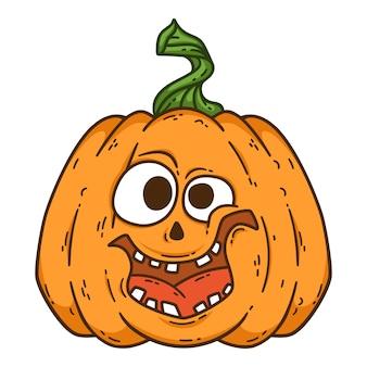 Calabaza sonriente de halloween