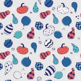 Calabazas de colores, patrones sin fisuras