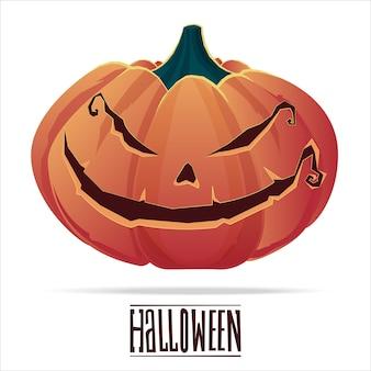 Calabazas de halloween con caras divertidas de miedo