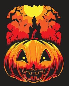 Calabazas de miedo de halloween