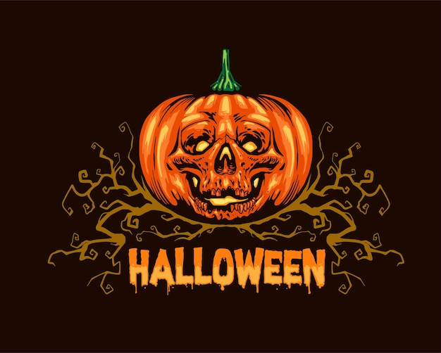 Calavera calabaza hallowen