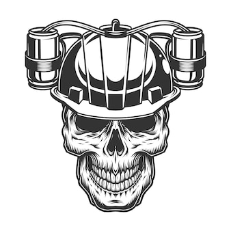Calavera en el casco de cerveza