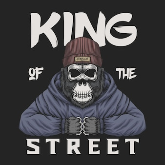 Calavera gorila rey de la calle
