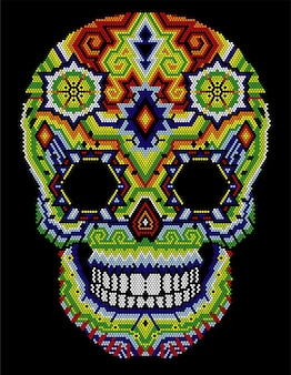 Calavera huichol azteca