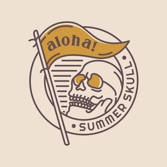 Calavera de verano aloha