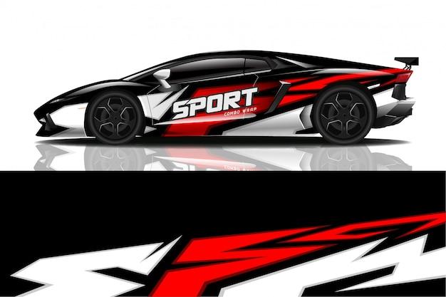 Calcomanía de coche deportivo