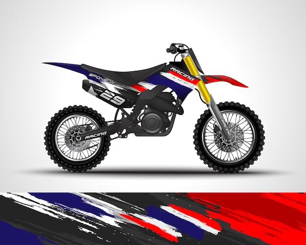 Calcomanía cruzada de motocross y adhesivo de vinilo