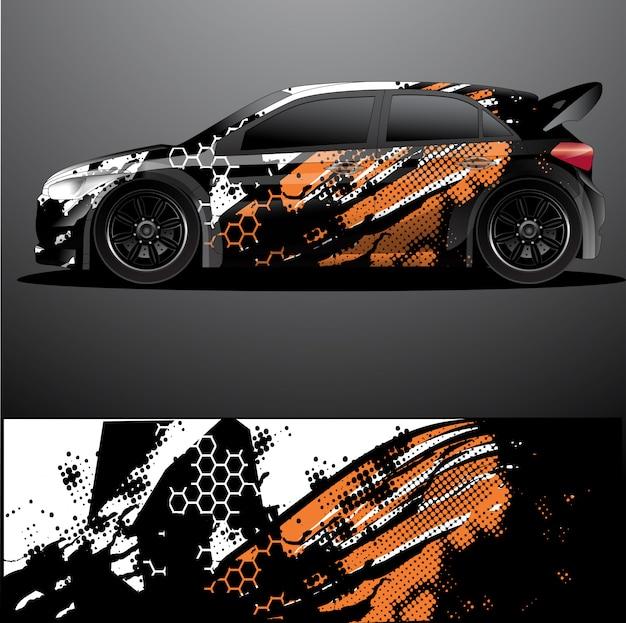 Calcomanía gráfica de rally car