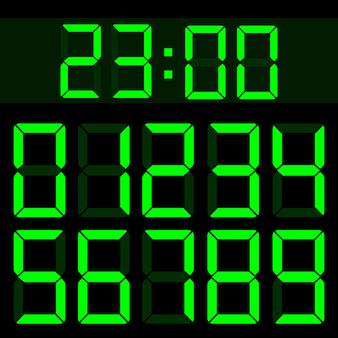 Calculadora de cristal líquido digital con números lcd.