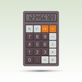 Calculadora. ilustración. elemento