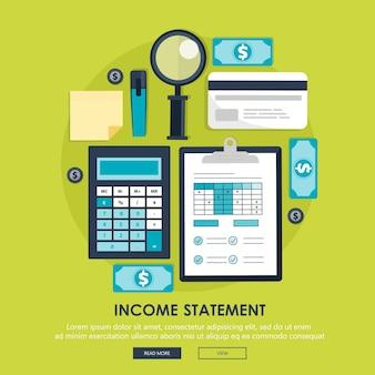 Calculadora, informes financieros, cuenta de resultados