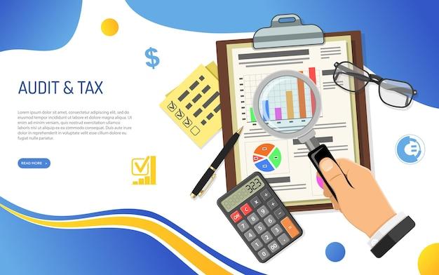 Cálculo de procesos de auditoría e impuestos