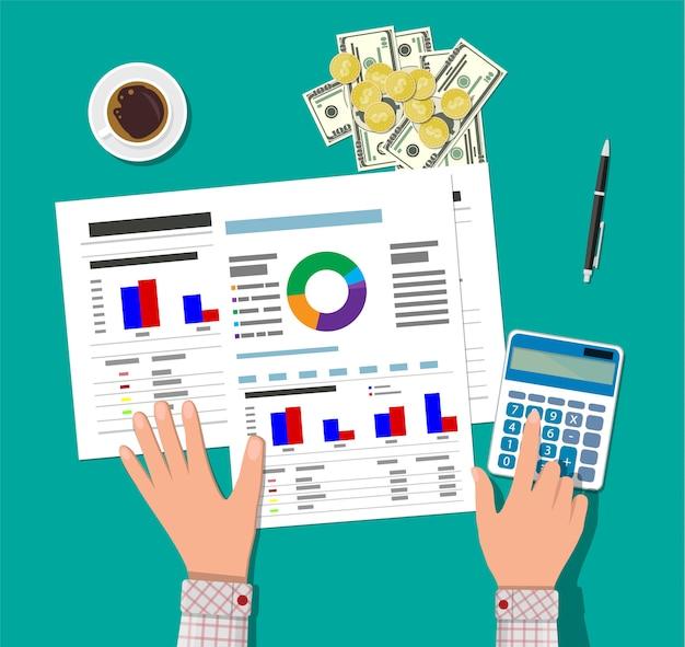 Cálculos financieros. proceso de trabajo