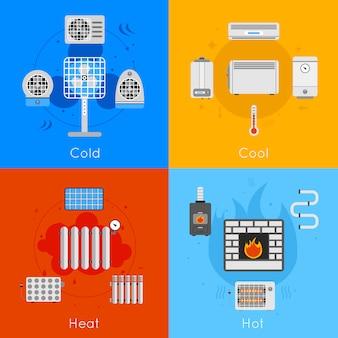 Calefacción y refrigeración plana.