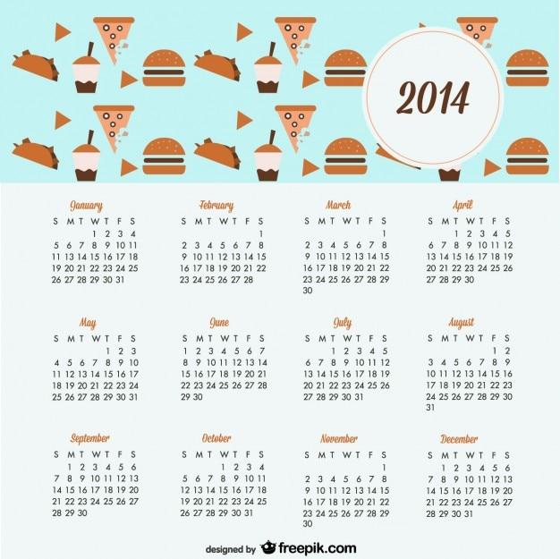 Calendario 2014 de diseño de galletas y dulces