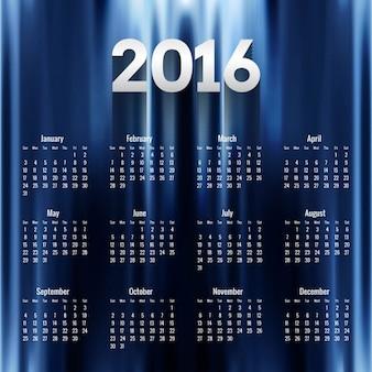 Calendario de 2016 azul oscuro