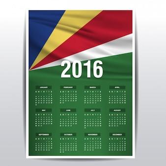 Calendario de 2016 de las seychelles