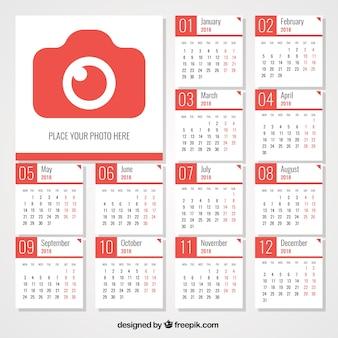 Calendario 2018 con cámara de fotos