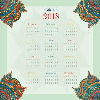 Calendario 2018 con estilo boho