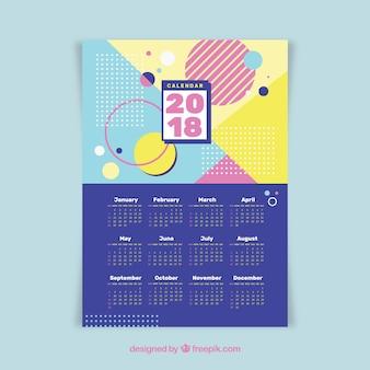 Calendario 2018 geométrico
