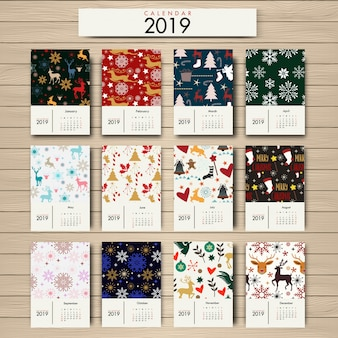 Calendario 2019 diseño floral