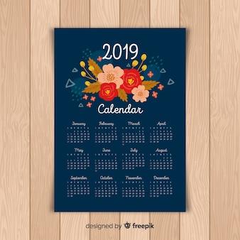 Calendario de 2019 floral