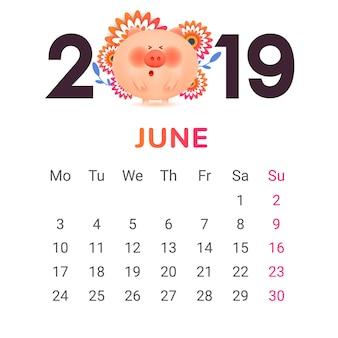 Calendario para el 2019.