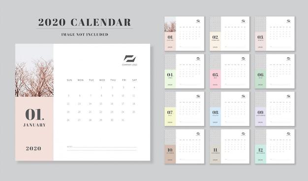Calendario 2020 planificador