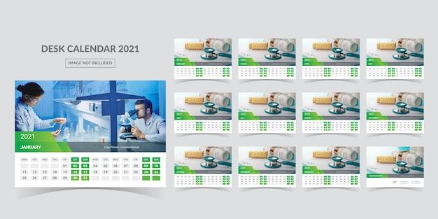 Calendario para 2021. la semana comienza el lunes.