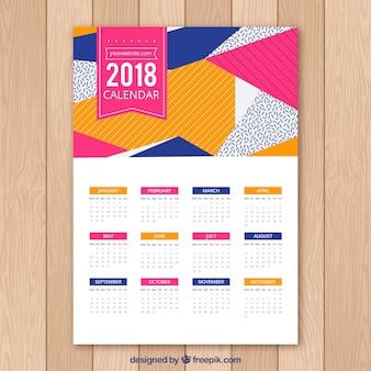 Calendario abstracto 2018