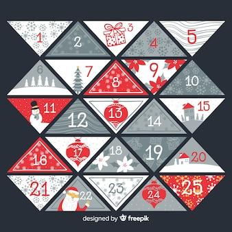 Calendario adorable de navidad con estilo elegante