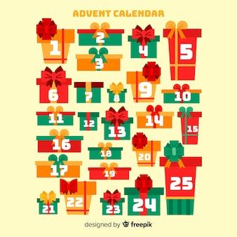 Calendario adviento cajas de regalo