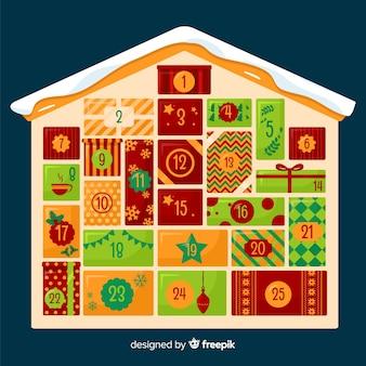 Calendario de adviento casa