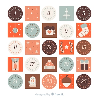 Calendario adviento colorido