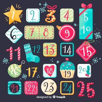 Calendario de adviento creativo