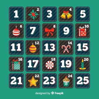 Calendario adviento cuadrados